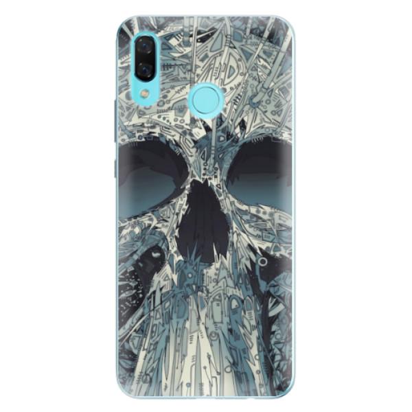 Odolné silikonové pouzdro iSaprio - Abstract Skull - Huawei Nova 3