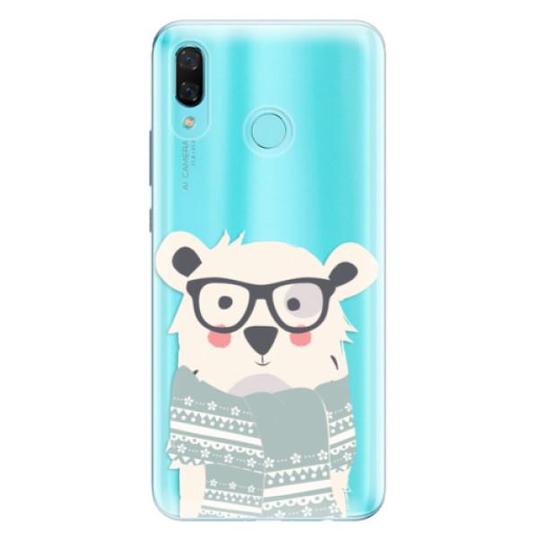 Odolné silikonové pouzdro iSaprio - Bear with Scarf - Huawei Nova 3
