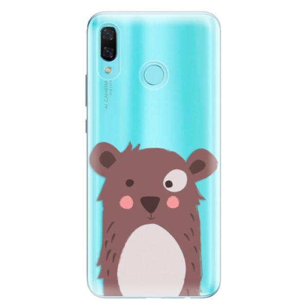 Odolné silikonové pouzdro iSaprio - Brown Bear - Huawei Nova 3