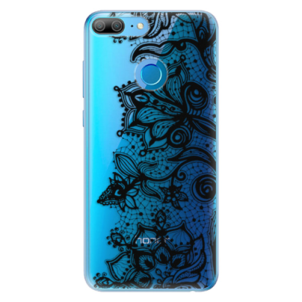 Odolné silikonové pouzdro iSaprio - Black Lace - Huawei Honor 9 Lite