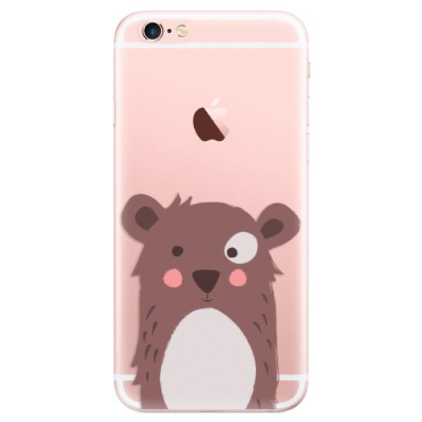 Odolné silikonové pouzdro iSaprio - Brown Bear - iPhone 6 Plus/6S Plus