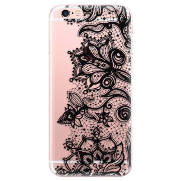 Odolné silikonové pouzdro iSaprio - Black Lace - iPhone 6 Plus/6S Plus