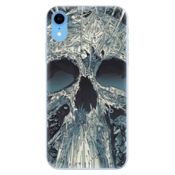 Odolné silikonové pouzdro iSaprio - Abstract Skull - iPhone XR
