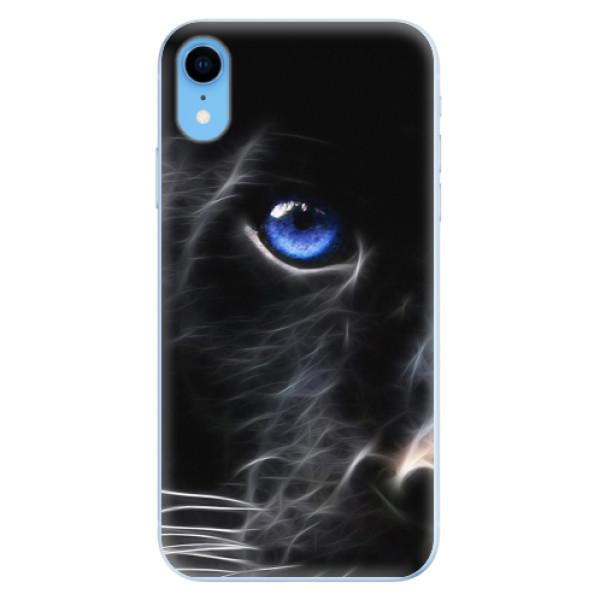 Odolné silikonové pouzdro iSaprio - Black Puma - iPhone XR