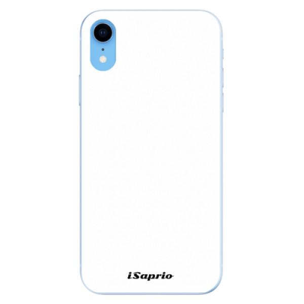 Odolné silikonové pouzdro iSaprio - 4Pure - bílý - iPhone XR