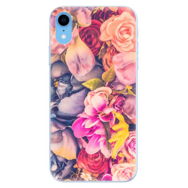 Odolné silikonové pouzdro iSaprio - Beauty Flowers - iPhone XR