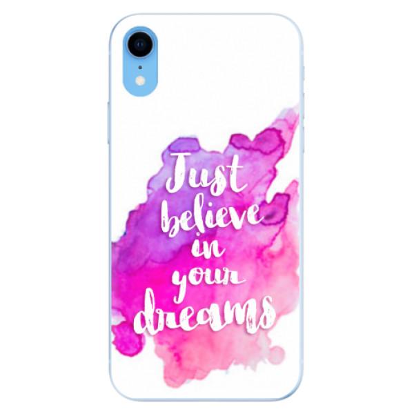 Odolné silikonové pouzdro iSaprio - Believe - iPhone XR