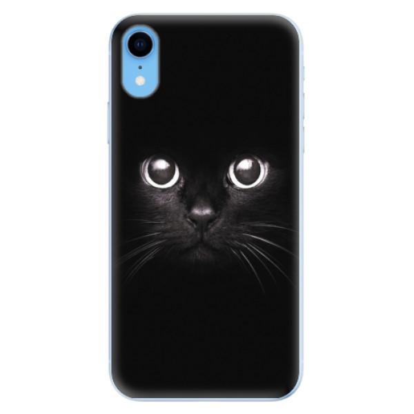Odolné silikonové pouzdro iSaprio - Black Cat - iPhone XR