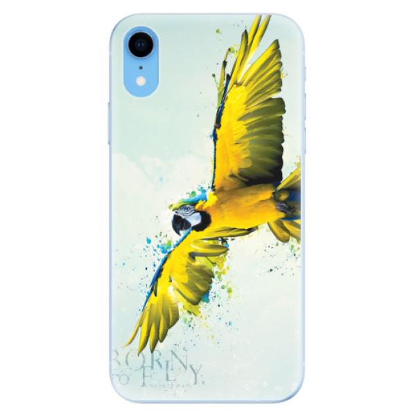 Odolné silikonové pouzdro iSaprio - Born to Fly - iPhone XR