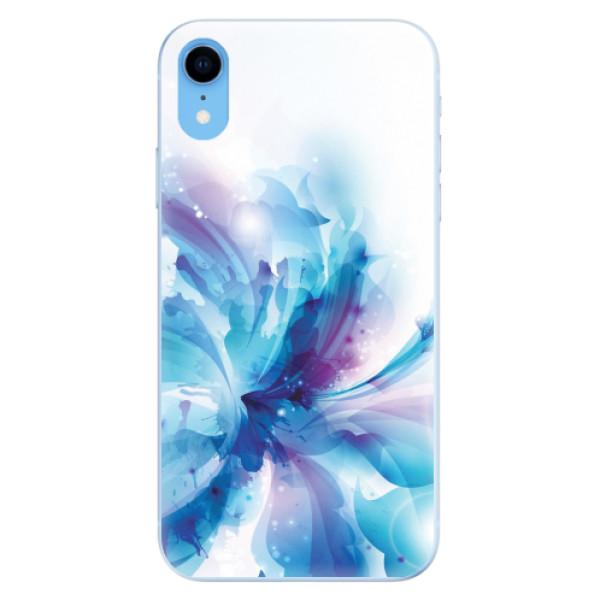 Odolné silikonové pouzdro iSaprio - Abstract Flower - iPhone XR
