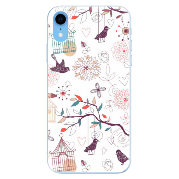 Odolné silikonové pouzdro iSaprio - Birds - iPhone XR