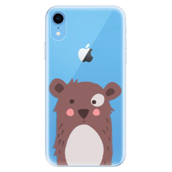 Odolné silikonové pouzdro iSaprio - Brown Bear - iPhone XR