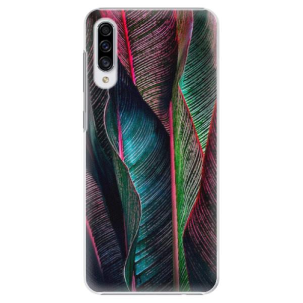 Plastové pouzdro iSaprio - Black Leaves - Samsung Galaxy A30s