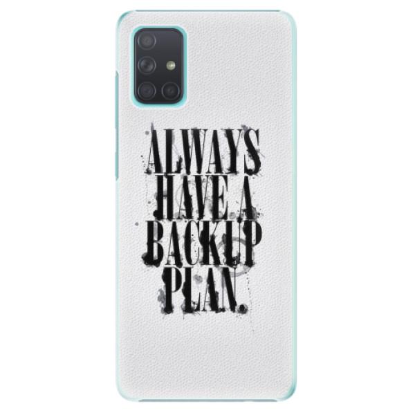 Plastové pouzdro iSaprio - Backup Plan - Samsung Galaxy A71