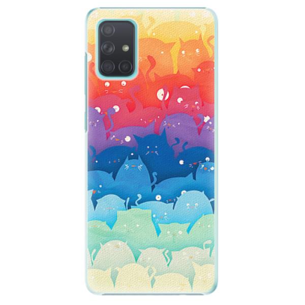 Plastové pouzdro iSaprio - Cats World - Samsung Galaxy A71