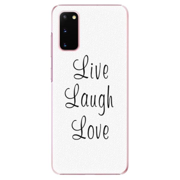 Plastové pouzdro iSaprio - Live Laugh Love - Samsung Galaxy S20
