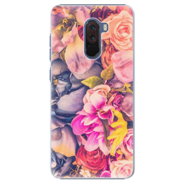 Plastové pouzdro iSaprio - Beauty Flowers - Xiaomi Pocophone F1