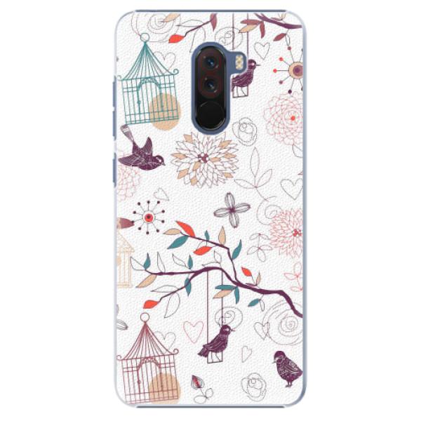 Plastové pouzdro iSaprio - Birds - Xiaomi Pocophone F1
