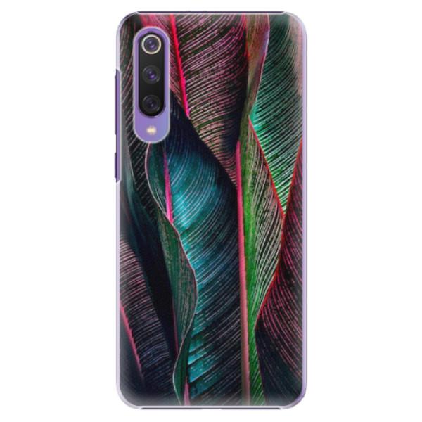 Plastové pouzdro iSaprio - Black Leaves - Xiaomi Mi 9 SE