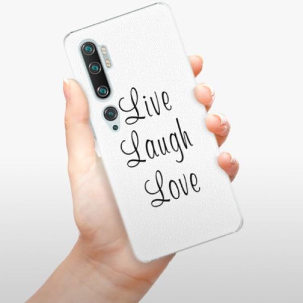 Plastové pouzdro iSaprio - Live Laugh Love - Xiaomi Mi Note 10 / Note 10 Pro