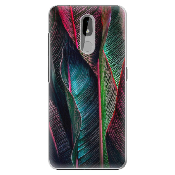 Plastové pouzdro iSaprio - Black Leaves - Nokia 3.2