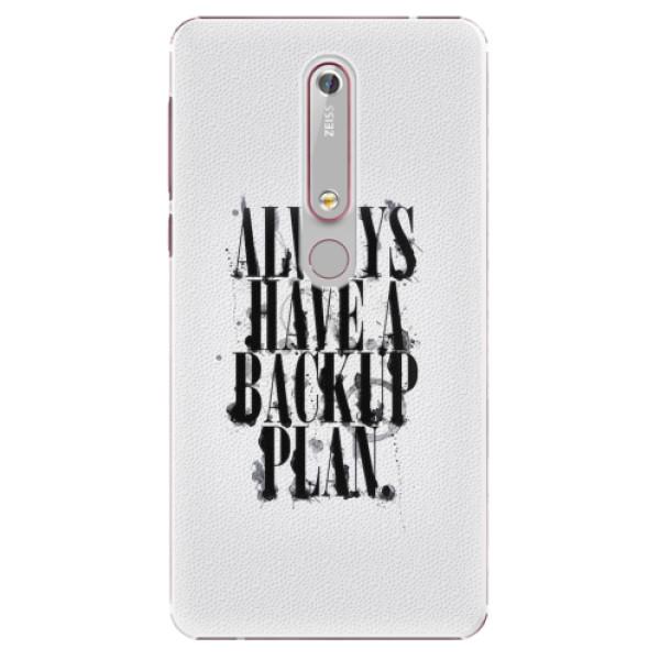 Plastové pouzdro iSaprio - Backup Plan - Nokia 6.1