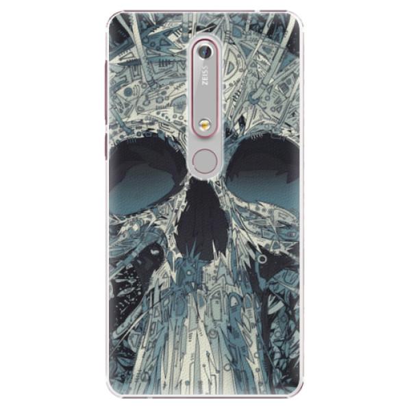 Plastové pouzdro iSaprio - Abstract Skull - Nokia 6.1