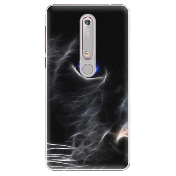 Plastové pouzdro iSaprio - Black Puma - Nokia 6.1