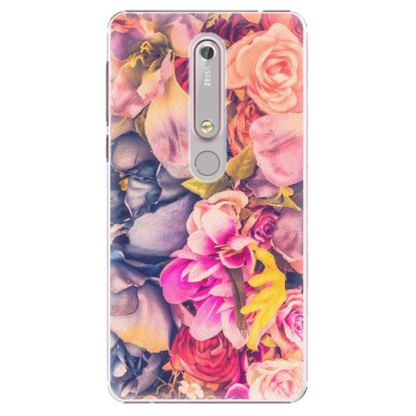 Plastové pouzdro iSaprio - Beauty Flowers - Nokia 6.1