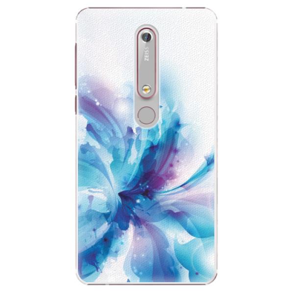 Plastové pouzdro iSaprio - Abstract Flower - Nokia 6.1