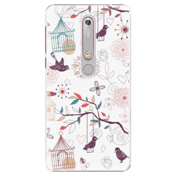 Plastové pouzdro iSaprio - Birds - Nokia 6.1