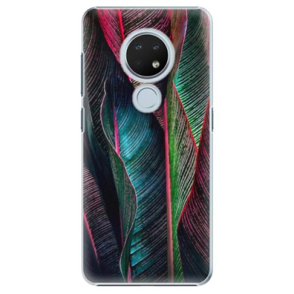 Plastové pouzdro iSaprio - Black Leaves - Nokia 6.2
