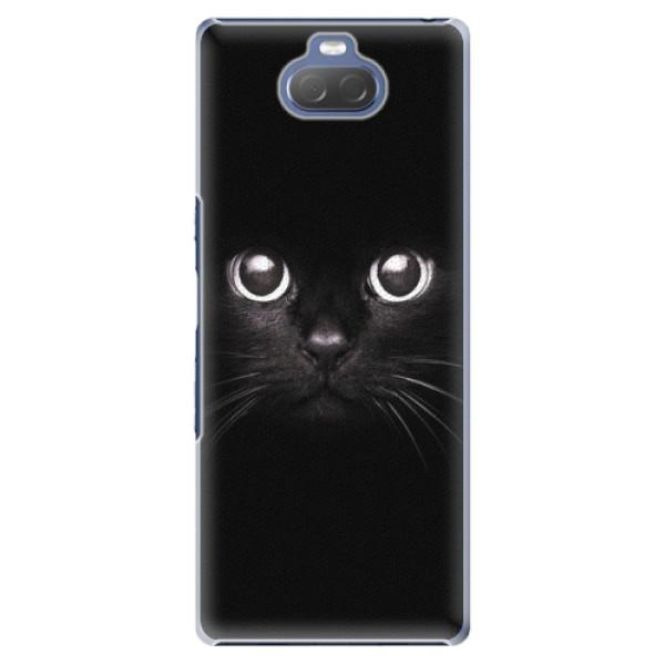 Plastové pouzdro iSaprio - Black Cat - Sony Xperia 10 Plus