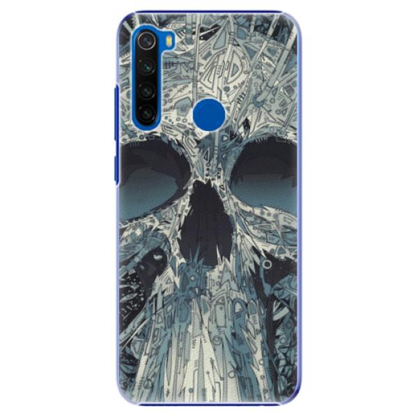 Plastové pouzdro iSaprio - Abstract Skull - Xiaomi Redmi Note 8T