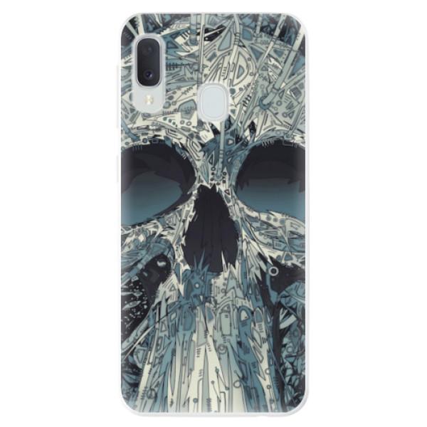 Odolné silikonové pouzdro iSaprio - Abstract Skull - Samsung Galaxy A20e