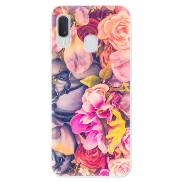 Odolné silikonové pouzdro iSaprio - Beauty Flowers - Samsung Galaxy A20e