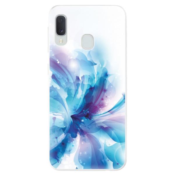 Odolné silikonové pouzdro iSaprio - Abstract Flower - Samsung Galaxy A20e