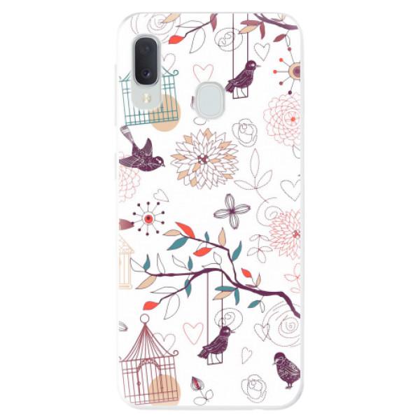 Odolné silikonové pouzdro iSaprio - Birds - Samsung Galaxy A20e