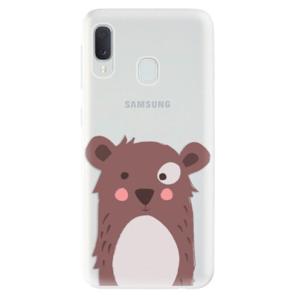 Odolné silikonové pouzdro iSaprio - Brown Bear - Samsung Galaxy A20e