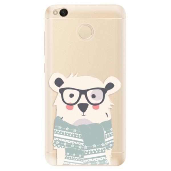 Odolné silikonové pouzdro iSaprio - Bear with Scarf - Xiaomi Redmi 4X