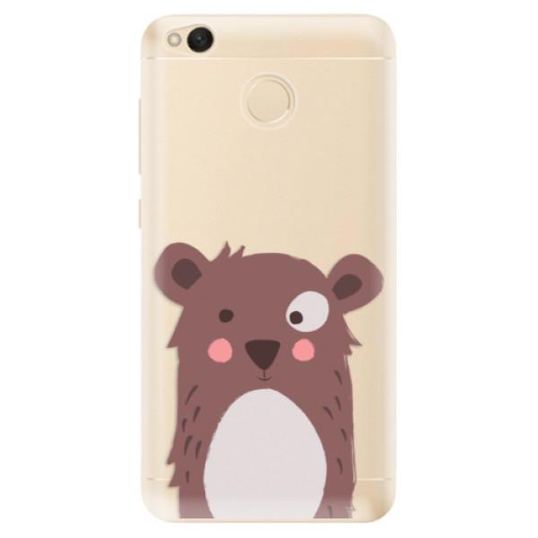 Odolné silikonové pouzdro iSaprio - Brown Bear - Xiaomi Redmi 4X
