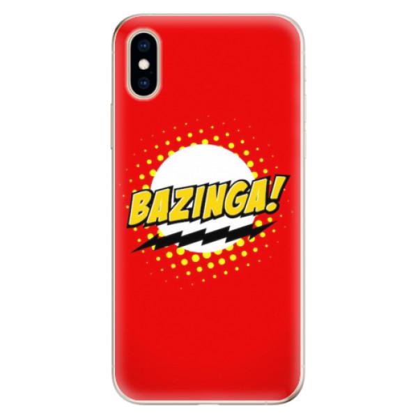 Odolné silikonové pouzdro iSaprio - Bazinga 01 - iPhone XS