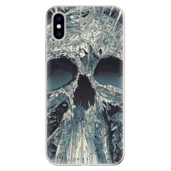 Odolné silikonové pouzdro iSaprio - Abstract Skull - iPhone XS