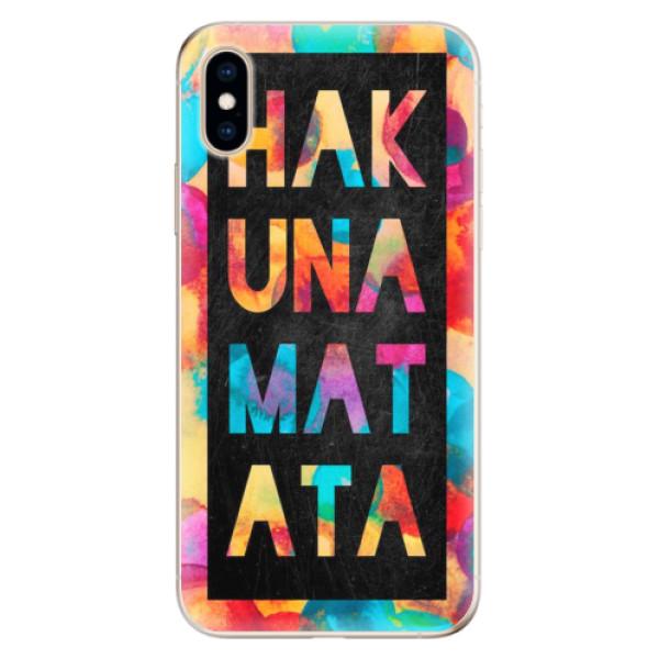 Odolné silikonové pouzdro iSaprio - Hakuna Matata 01 - iPhone XS