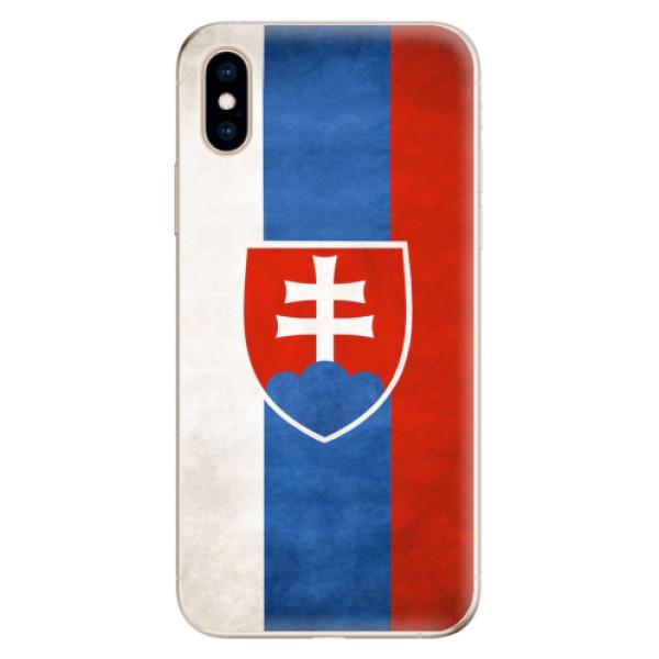 Odolné silikonové pouzdro iSaprio - Slovakia Flag - iPhone XS