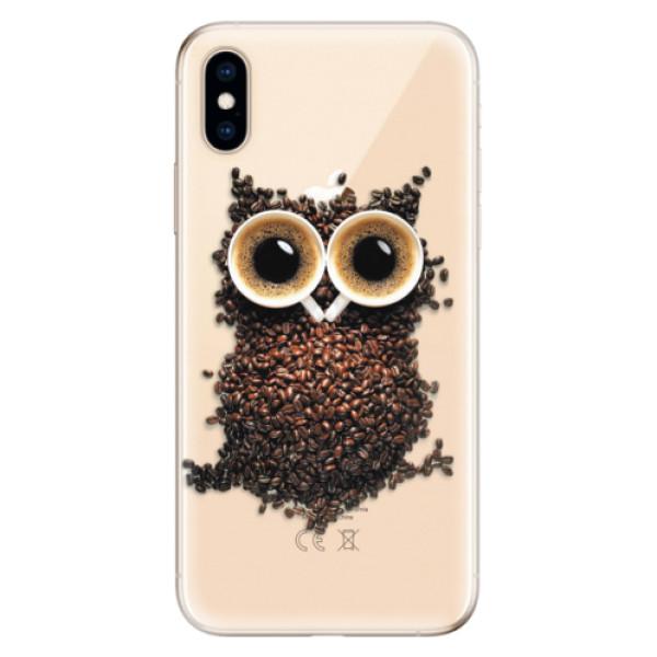 Odolné silikonové pouzdro iSaprio - Owl And Coffee - iPhone XS