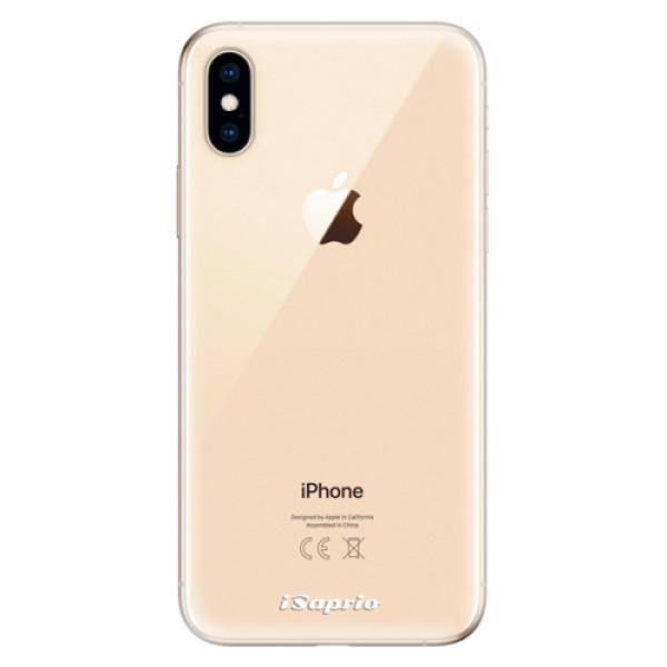 Odolné silikonové pouzdro iSaprio - 4Pure - mléčný bez potisku - iPhone XS