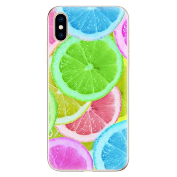 Odolné silikonové pouzdro iSaprio - Lemon 02 - iPhone XS