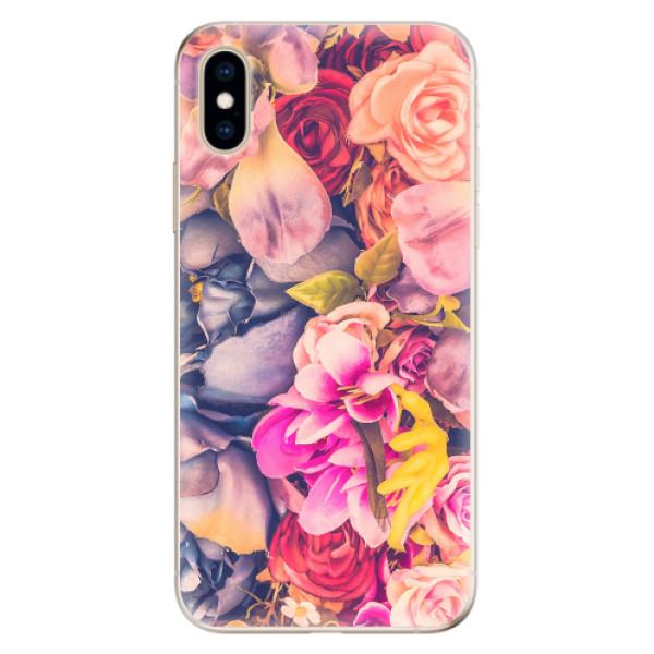 Odolné silikonové pouzdro iSaprio - Beauty Flowers - iPhone XS