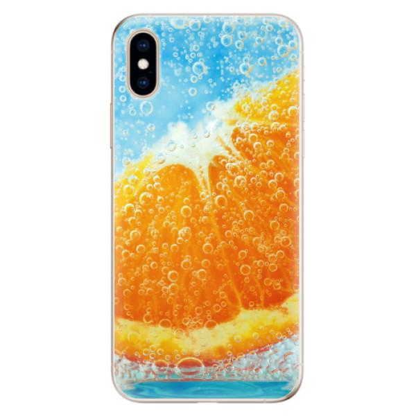 Odolné silikonové pouzdro iSaprio - Orange Water - iPhone XS
